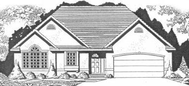 Plan # 1515 - Ranch   Large render view