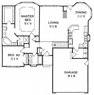 Plan # 1515 - Ranch | First floor plan