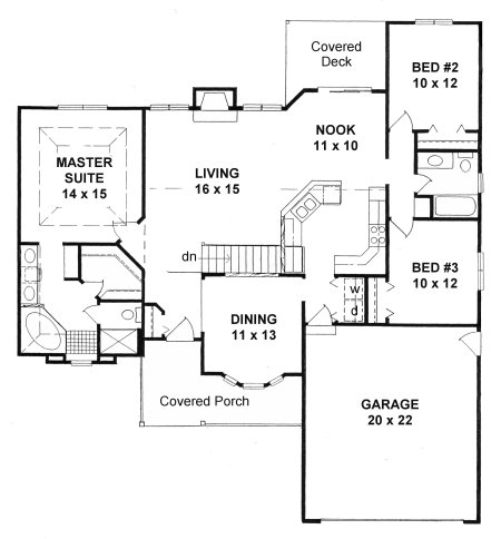 Plan # 1526 - Ranch | First floor plan