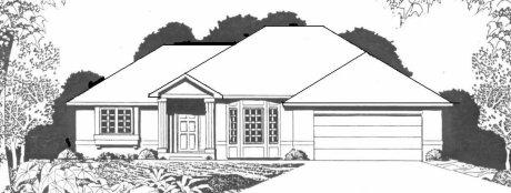 Plan # 1533 - Ranch | Large render view