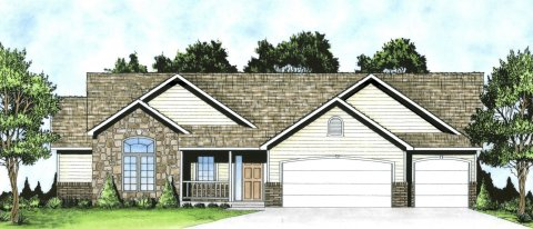 Plan # 1539 - Ranch | Large render view