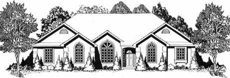 Plan # 1541 - Ranch | Large render view
