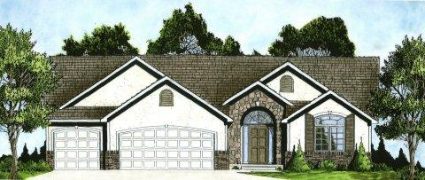 Plan # 1551 - Ranch | Large render view