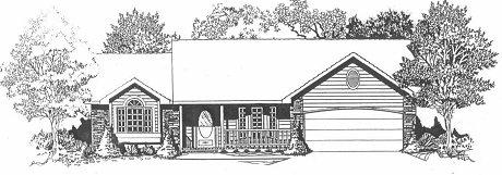 Plan # 1569 - Ranch | Large render view