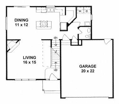 Plan # 1584 - 2 Story   First floor plan