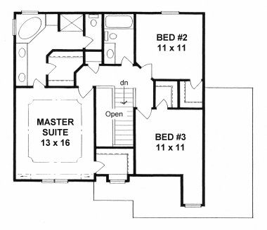 Plan # 1584 - 2 Story   Second floor plan