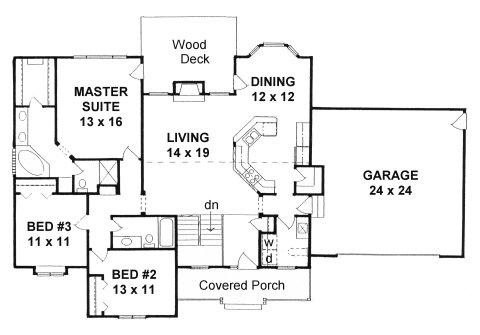 Plan # 1612 - Ranch | First floor plan