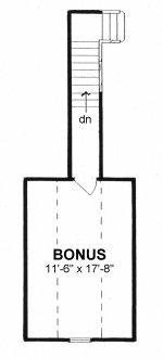 Plan # 1640 - Ranch | Second floor plan