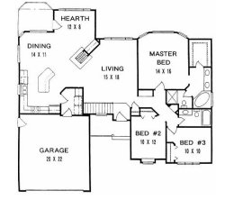 eafb  f  d  eff    bedroom ranch house plans   bedroom house plans also e b c e   a   single floor house plans  d house floor plans together with House plans for   x       sqft with north facing enterence together with cb fdc  cc   f single level house plans   car garage single level house plans in addition single story home plans. on single story open floor plans with picture of the house