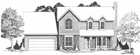 Plan # 1661 - 2 Story | Large render view