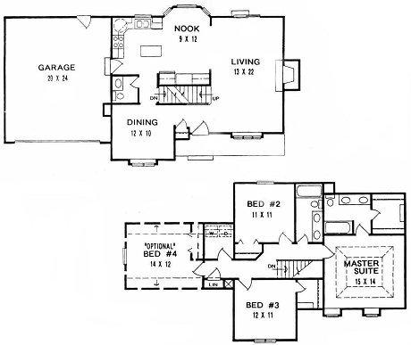 Plan # 1661 - 2 Story | First floor plan
