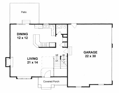Plan # 1670 - 2 Story | First floor plan