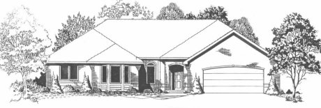 Plan # 1678 - Ranch | Large render view