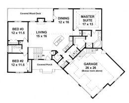 House plans from 1600 to 1800 square feet page 2 for Ranch floor plans with bonus room