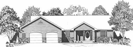 Plan # 1700 - Ranch | Large render view