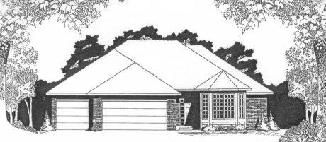 Plan # 1785 - Ranch | Large render view