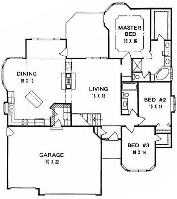 Plan # 1785 - Ranch | First floor plan