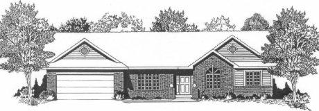 Plan # 1839 - Ranch   Large render view
