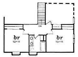 Plan # 1840 - 1 1/2 Story   Second floor plan
