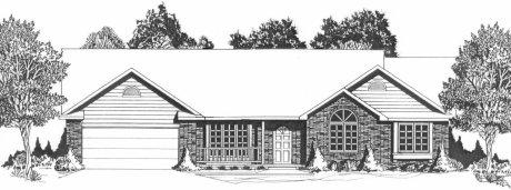 Plan # 1850 - Ranch | Large render view