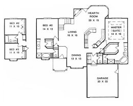 Ranch Home Plans 2000 Square Feet Home Plan