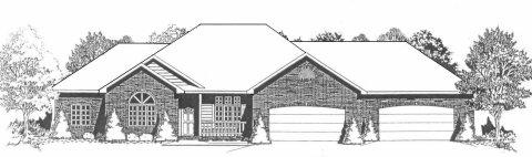 Plan # 1874 - Ranch | Large render view