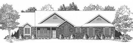Plan # 1892 - Ranch | Large render view