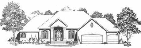 Plan # 1900 - Ranch | Large render view