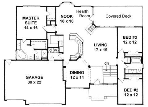 Plan # 2002 - Ranch | First floor plan