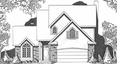 Plan # 2012 - 2 Story | Large render view