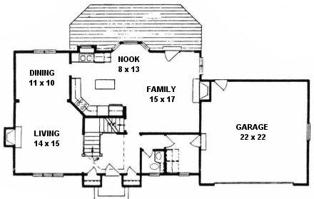 Plan # 2042 - 2 Story | First floor plan