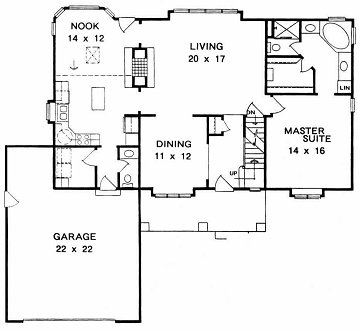 Plan # 2045 - 1 1/2 Story | First floor plan