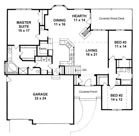 Plan # 2051 - Ranch | First floor plan