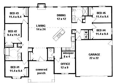 Plan # 2072 - Ranch | First floor plan