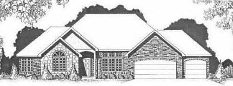 Plan # 2103 - Ranch   Large render view