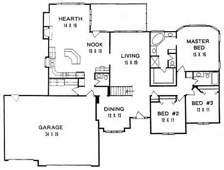 Plan # 2186 - Ranch | First floor plan