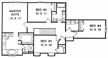 Plan # 2326 - 2 Story | Second floor plan