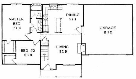 Plan # 908 - Ranch | First floor plan