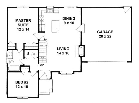 Plan # 922 - Ranch | First floor plan