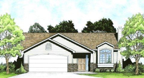 Plan # 926 - Ranch   Large render view