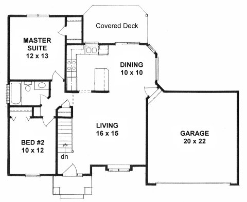 Plan # 932 - Ranch | First floor plan