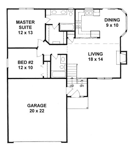 Plan # 968 - Bi-Level | First floor plan