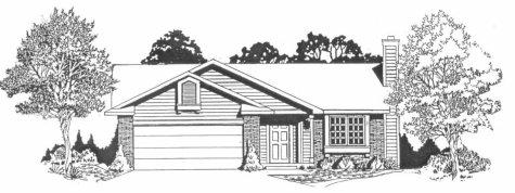Plan # 978 - Ranch | Large render view
