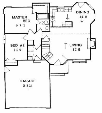 Plan # 978 - Ranch | First floor plan