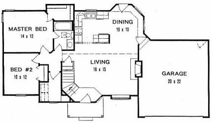 Plan # 982 - Ranch | First floor plan