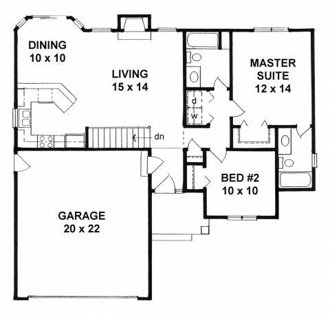 Plan # 995 - Ranch   First floor plan